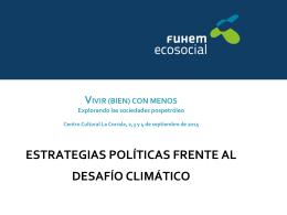 FUHEM Ecosocial Estrategias políticas frente al desafío climático