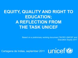UNICEF FRENTE AL PROYECTO DE LEY GENERAL DE