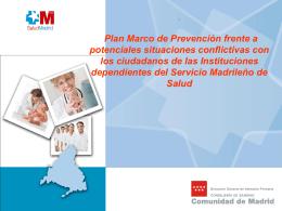 Plan Marco de Prevención frente potenciales situaciones