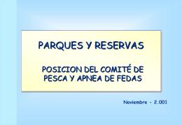 Parques y reservas - Presentación Noviembre 2001
