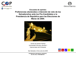 Precandidatos Presidenciales a Elecciones 2004.