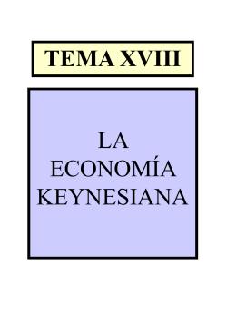 La economía keynesiana.