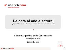 Ver presentación - Camara Argentina de Construcción