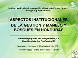¿Dónde estamos? - Agenda Forestal Hondureña