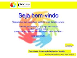 Diapositivo 1 - Direcção Regional de Educação do Alentejo