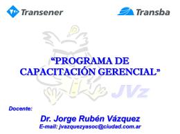 Transparencias - Jorge Vazquez