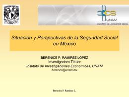 Situación y perspectivas de la seguridad social en - PUED