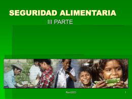 EVALUACIÓN DE LA SEGURIDAD ALIMENTARIA