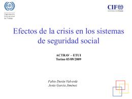 Crísis del sistema de Seguridad Social