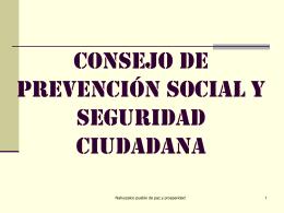 consejo de prevención social y seguridad ciudadana