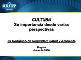 Cultura Su Importancia desde Varias Perspectivas