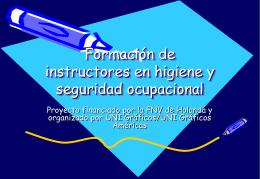 Formación de instructores en higiene y seguridad ocupacional