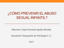 ¿Cómo prevenir el abuso sexual infantil?