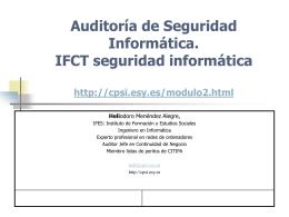 Primera parte - Certificado de Profesionalidad en Seguridad de la