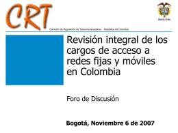 Presentación Foro Modelos de Costos de Redes Fijas y