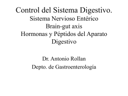 Hormonas y Péptidos del Aparato Digestivo