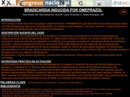 bradicardia inducida por omeprazol introducción