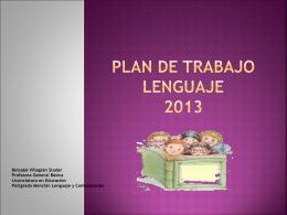 Plan de trabajo - 3° Lenguaje 2013