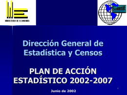 Plan De Acción Estadístico 2002-2007