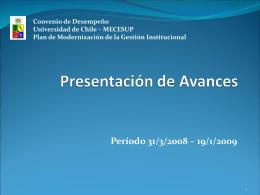Plan de Modernización de la Gestión Institucional