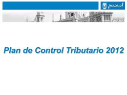 Plan Control Tributario - Ayuntamiento de Madrid
