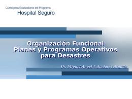 Organización Funcional Planes y Programas Operativos