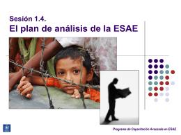 El plan de análisis de la ESAE