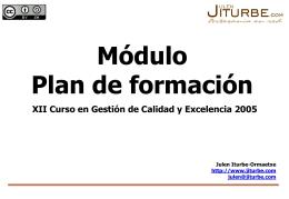 """Módulo """"Plan de Formación"""" - Euskalit"""