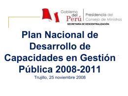Diagnóstico y Formulación del Plan Nacional de Desarrollo
