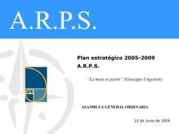 I Plan Estratégico 2005-2009