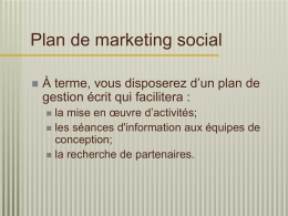 Plan de marketing social - Publici