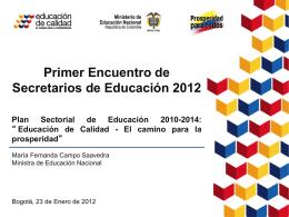 1. Plan Sectorial de Educación