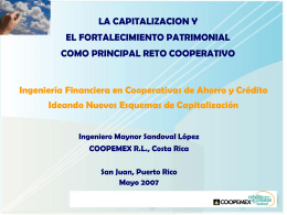 Ingeniería Financiera en Cooperativas de Ahorro
