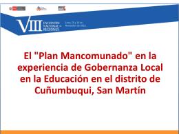 """El """"Plan Mancomunado"""" - Consejo Nacional de Educación"""