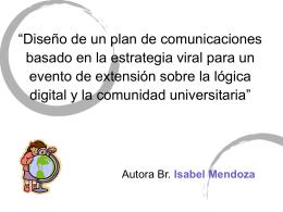 """""""Diseño de un plan de comunicaciones basado en la"""