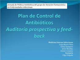 Plan de Control de Antibióticos