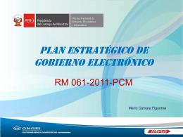 Plan Estratégico de Gobierno Electrónico