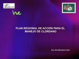 Plan Regional de Acción para el Manejo de Clordano.