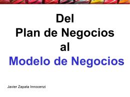 pre de Plan a Modelo de negocios - E