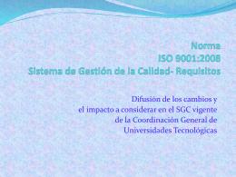 ISO 9001:2008 Sistema de Gestión de la Calidad