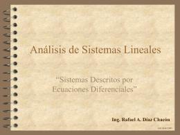 Sistemas Descritos por Ecuaciones Diferenciales