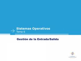 Transparencias de Sistemas Operativos