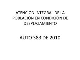 atencion integral de la población en condición de desplazamiento
