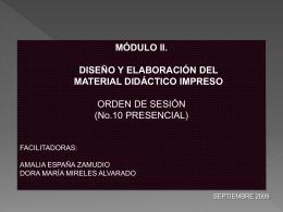 ORDEN DE SESIÓN 10