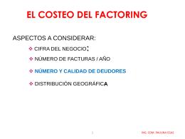 EL COSTEO DEL FACTORING
