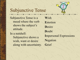 subjunctive tense studentversion