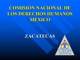 parte informativo - Comisión de Derechos Humanos de Zacatecas