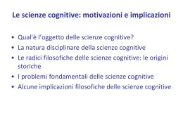 Parte monografica sulle scienze cognitive