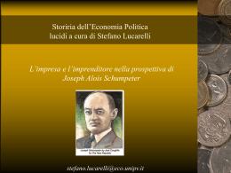 Schumpeter e l`approccio schumpeteriano all`innovazione