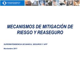 mecanismos de mitigación de riesgo y reaseguro